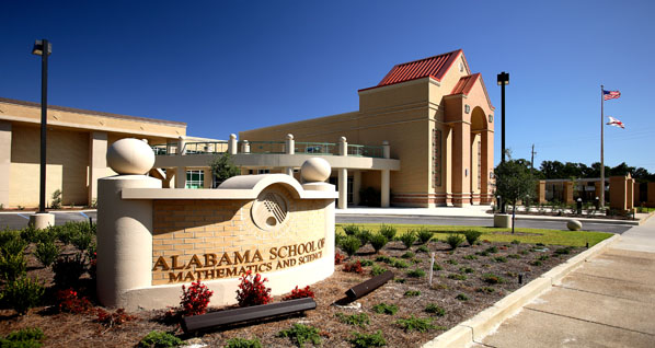 Alabama school of math science library the architects - Interior design schools in alabama ...