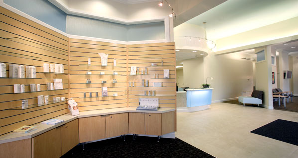 Haley dermatology the architects group for Dermatology clinic interior design